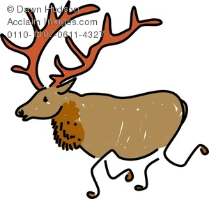 300x285 cartoon elk clipart amp stock photography Acclaim Images