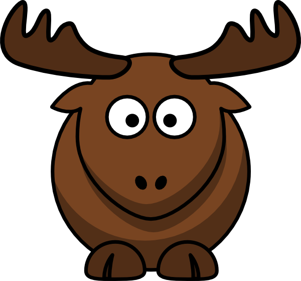 600x559 Cartoon Elk clip art Free Vector 4Vector