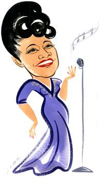 193x350 Ella Fitzgerald', Caricature By Penny Sobr Pink, Purple And Red
