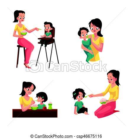 450x470 Hija, Ella, Sentado, Hijo, Madre, Clip