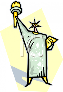 242x350 Statue Of Liberty Clipart