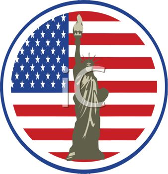 338x350 Statue Of Liberty Decal