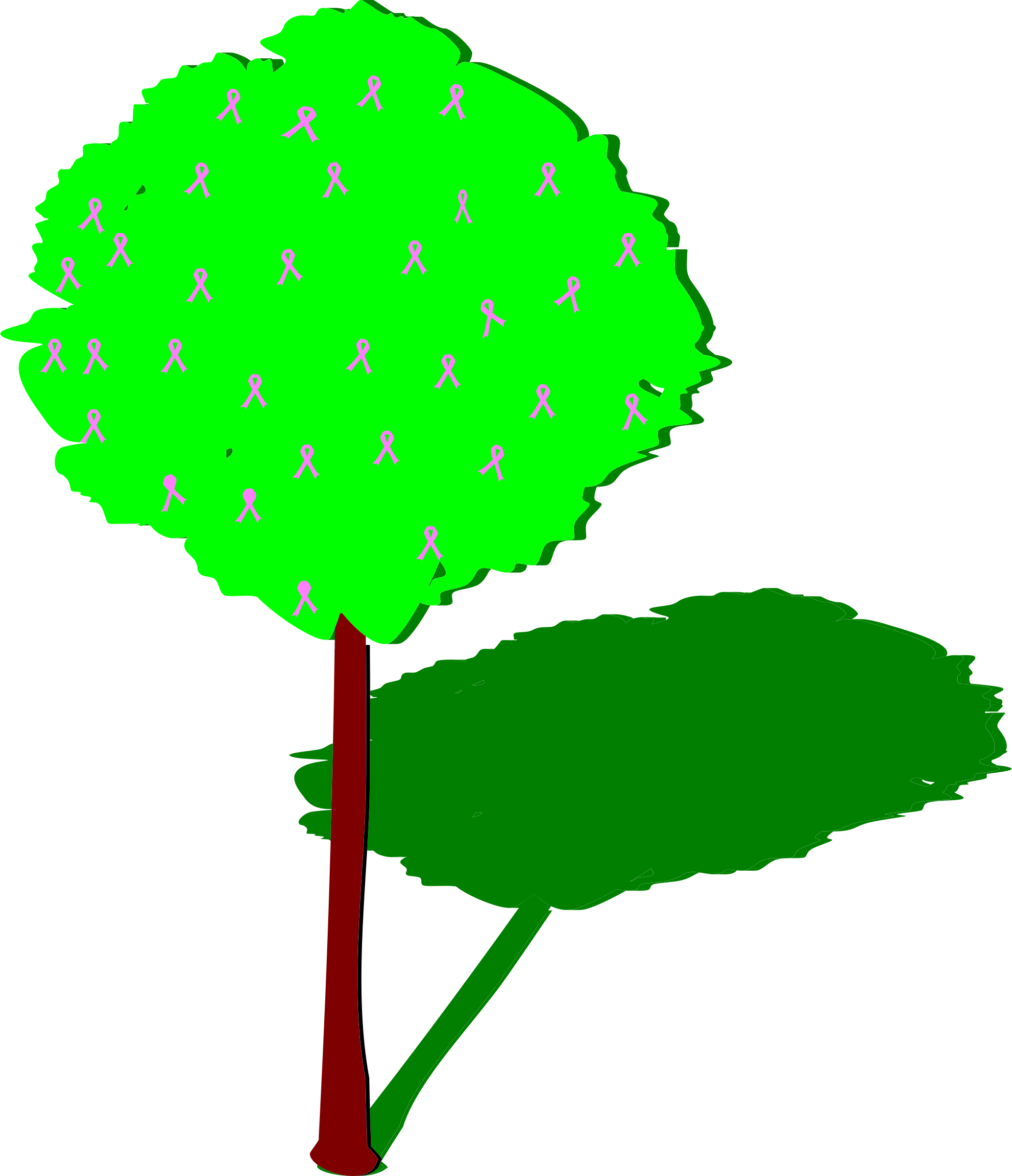 2066x2400 Shadow Of A Tree Clipart