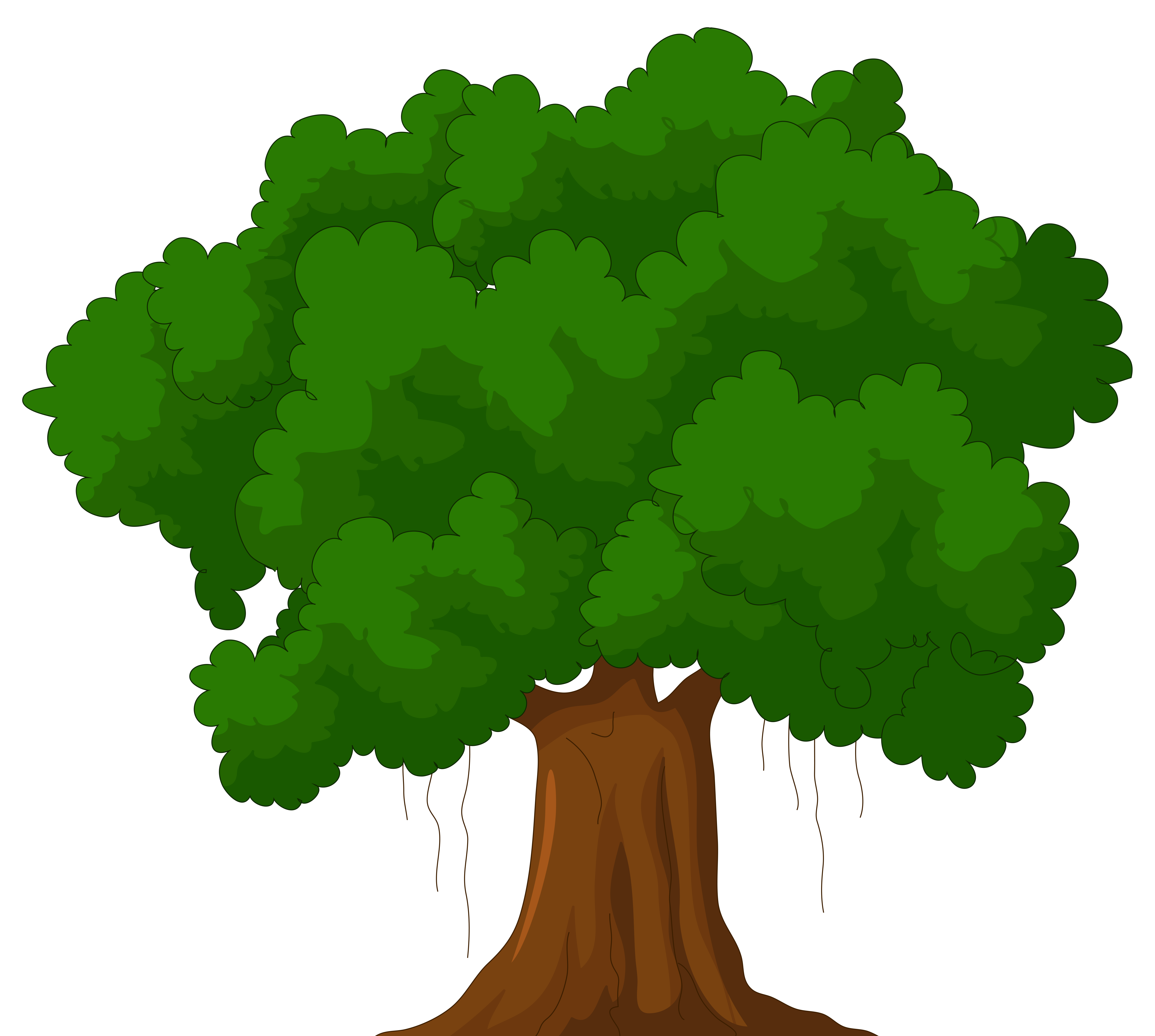 4992x4478 Banyan Tree Clipart Animated