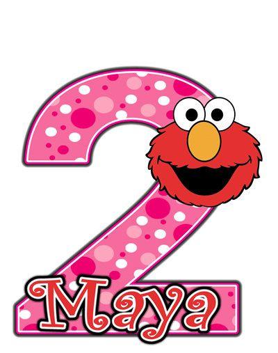 400x507 Elmo Sesame Street Pink Birthday Party T Shirt Iron On Transfer