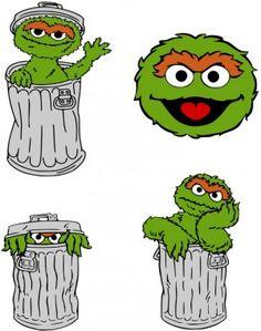 236x299 Oscar The Grouch Sesame Street Oscar The Grouch Belt Buckle