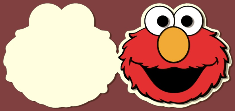 819x389 Elmo Cut Out Template