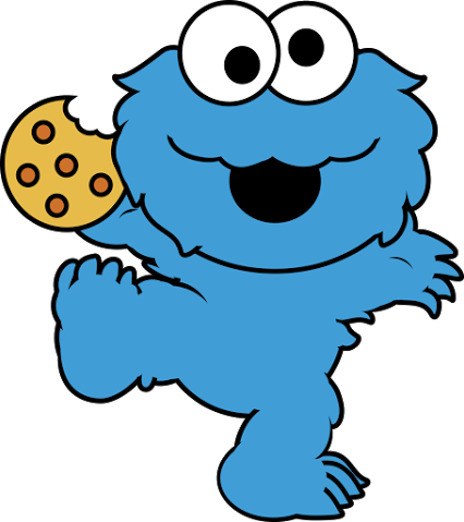 426x479 Cookie Monster Animated Clipart