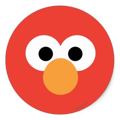 400x400 Elmo Face Art Classic Round Sticker