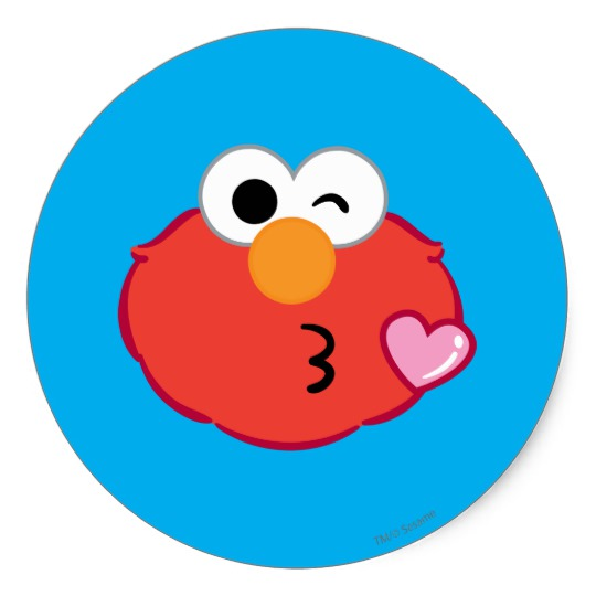 540x540 Elmo Face Throwing A Kiss Classic Round Sticker