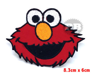 300x242 Sesame Street Elmo Big Face Iron Sew On Embroidered Patch Badge