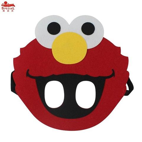 480x480 Special Child Elmo Mask Cartoon Cosplay Face Mask Girl Dress Brand