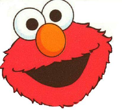 411x369 Elmo Face On White Background Seasame Street Elmo