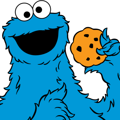 397x397 Cookie Monster Clipart