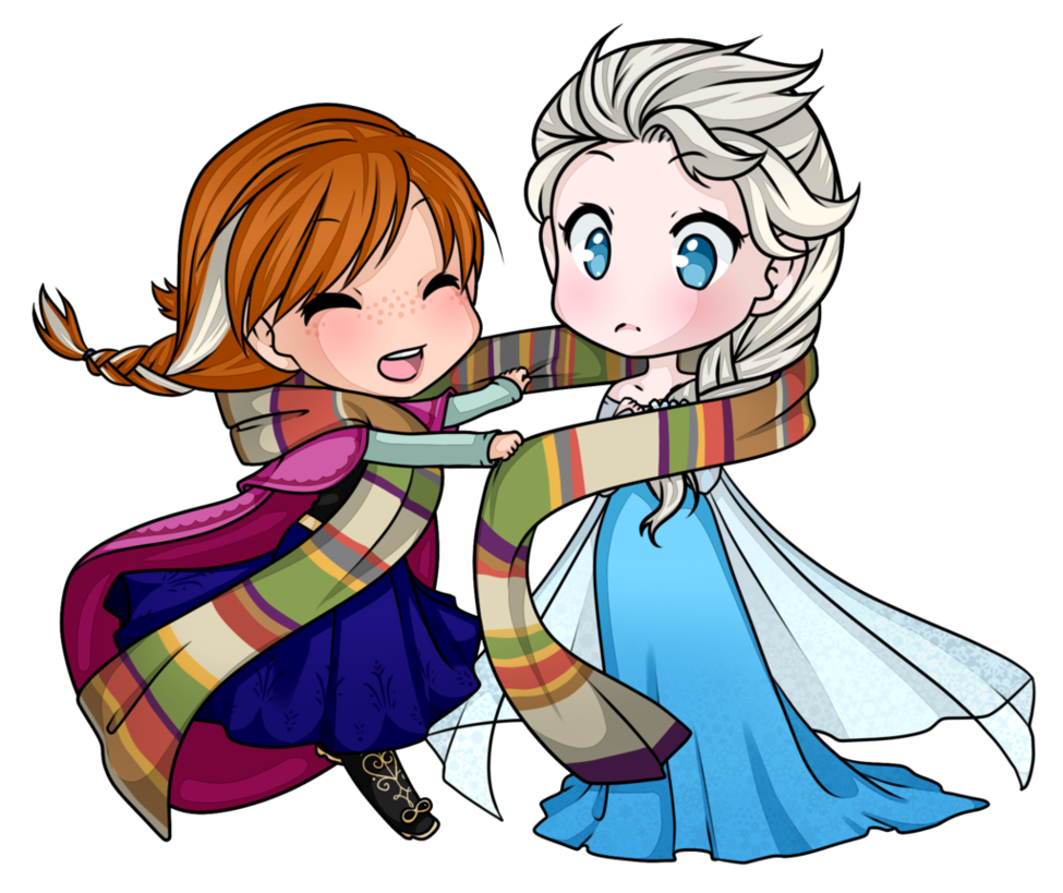 975x819 Commission Elsa + Anna By Electrorobo