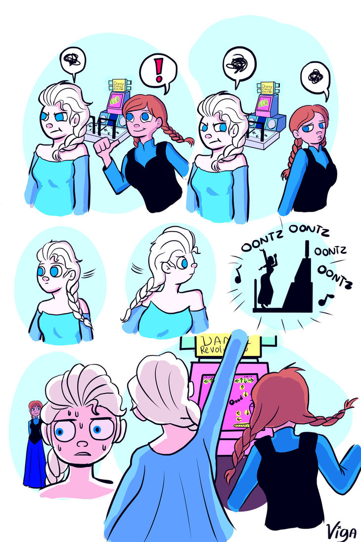 730x1095 Frozen Anna And Elsa And Ddr By Starlightv