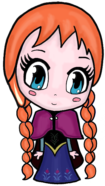 352x623 How To Draw Chibi Anna From Frozen With Easy Step By Step Tutorial