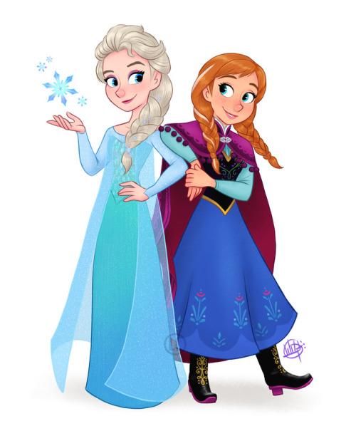 500x598 Elsa And Anna Fan Art Tumblr