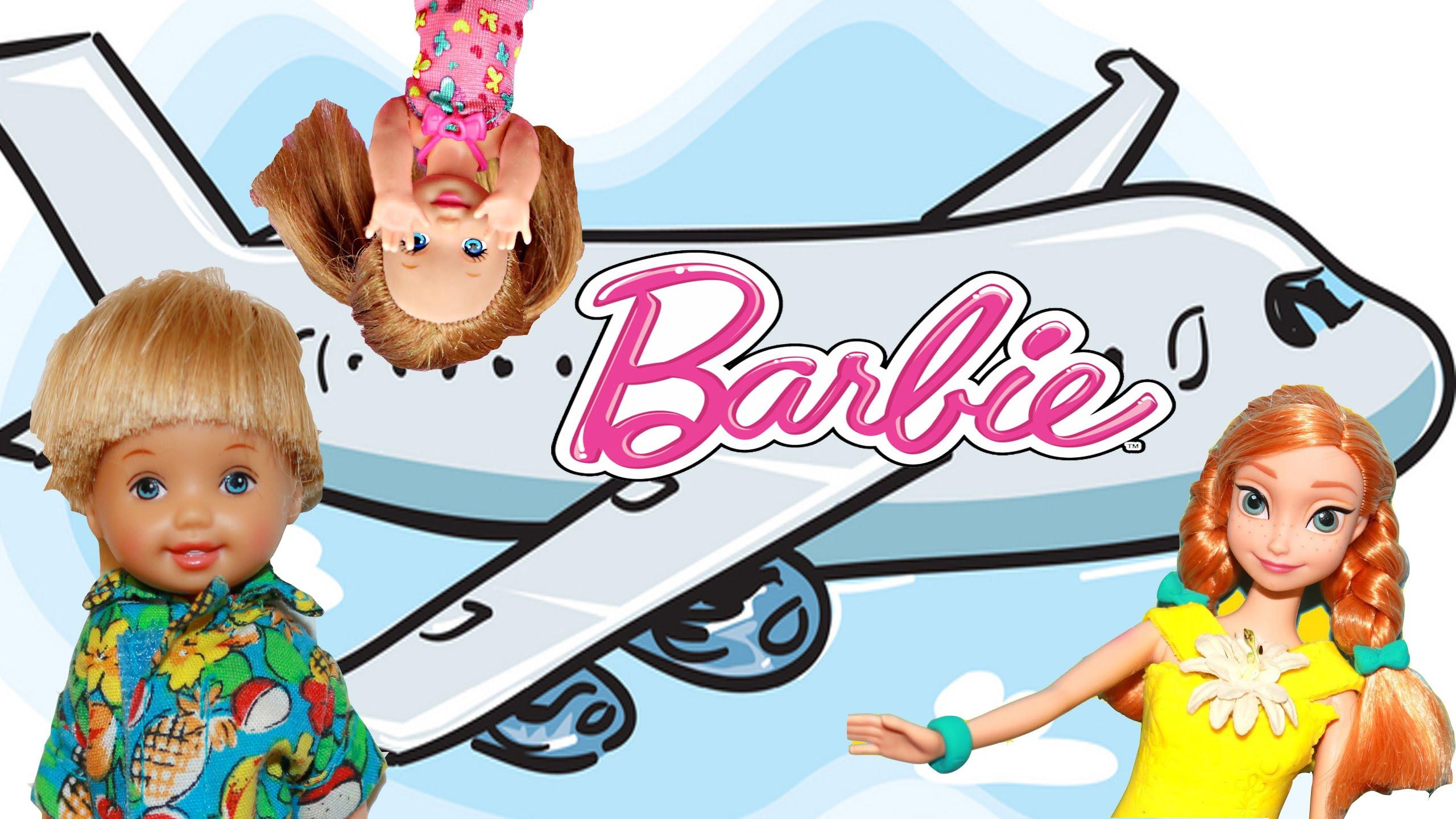 2560x1440 Barbie Airplane Go To Disneyland! With Disneycartoys