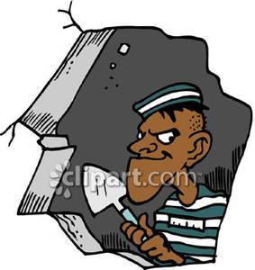 283x300 Clip Art Inmate Escape Clipart