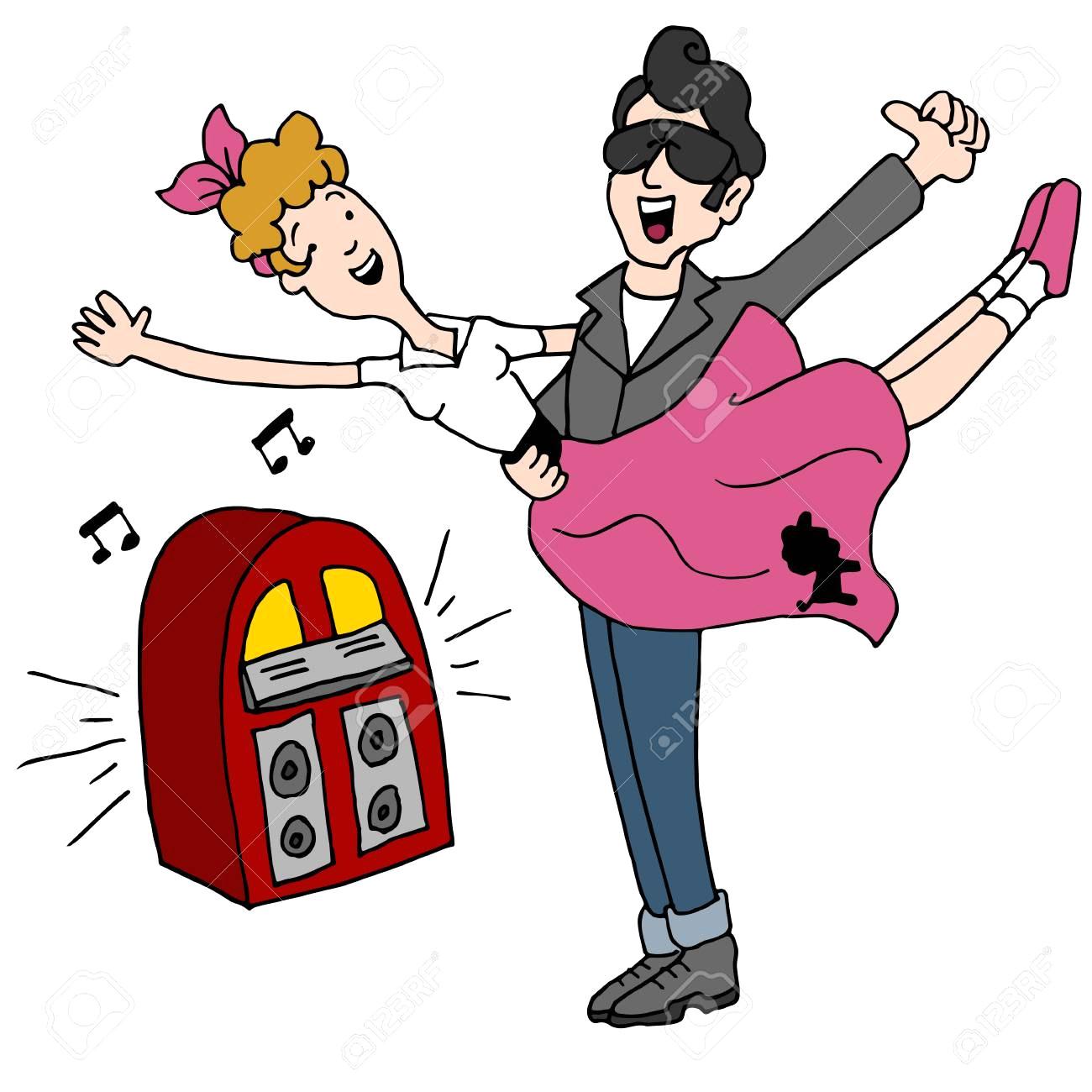 1300x1300 Amazon Com Large 50 S Sock Hop Rock N Roll Elvis Dancers Grease