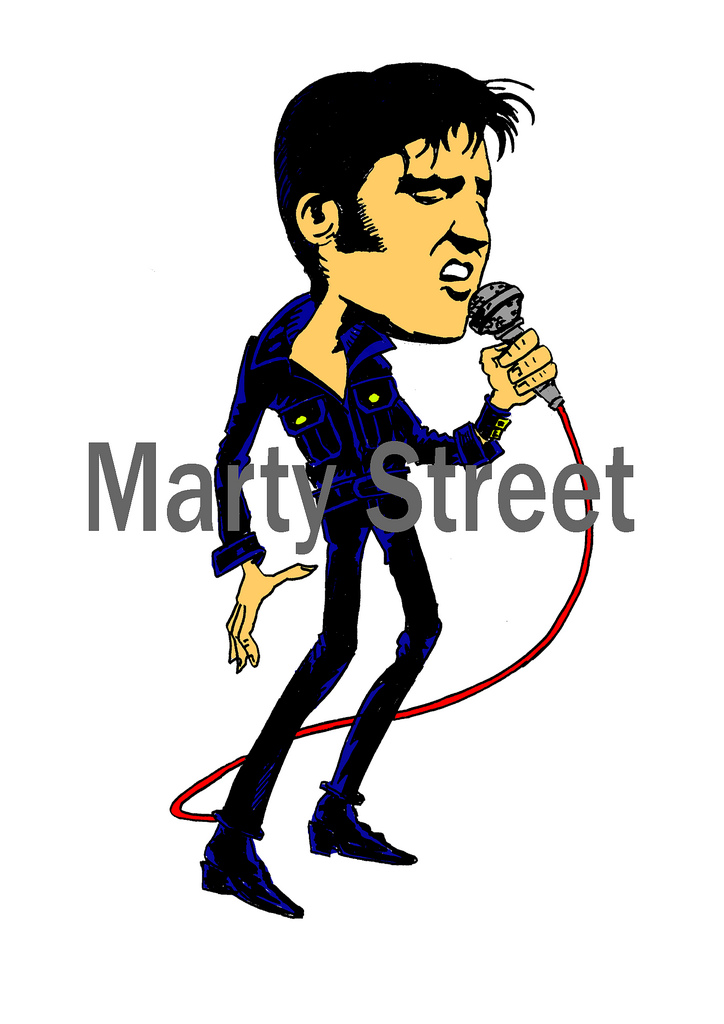 724x1024 Elvis Presley Marty Street