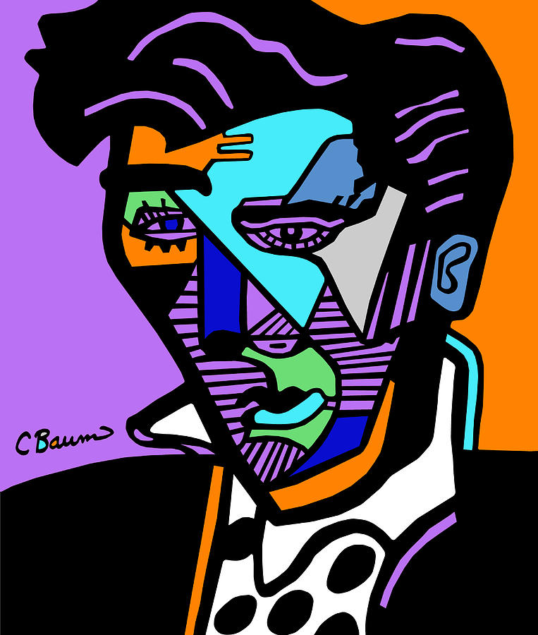 763x900 Elvis Presley Abstract Painting By C Baum