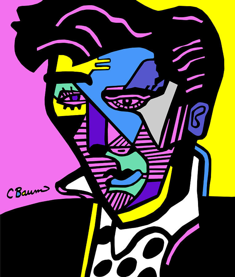 763x900 Elvis Presley Poster Painting By C Baum