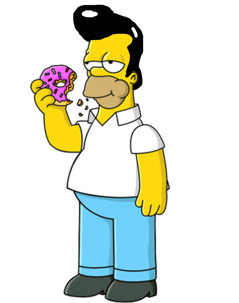 782x990 Homer Simpson With Elvis Presley's Hair By Darthraner83