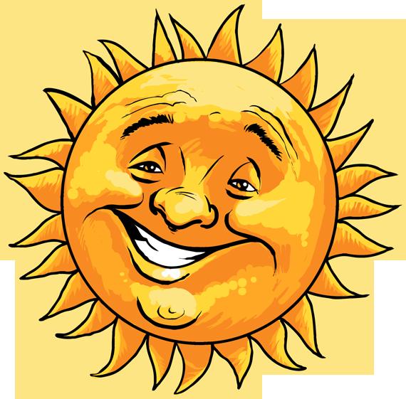 570x561 Sun Faces Carson Clipart