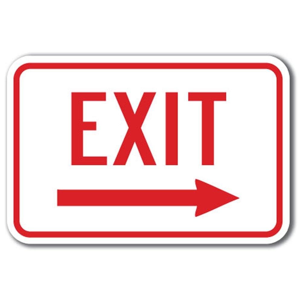 1000x1000 Exit Sign Clip Art Clipartlook