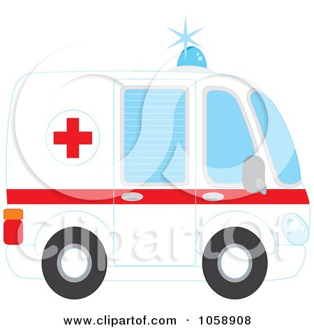 450x470 Clipart Of A Toy Ambulance