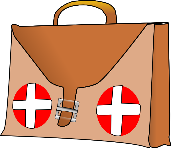 600x519 Emergency First Aid Kit Clipart