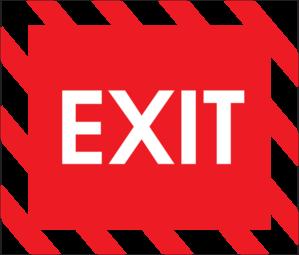 299x255 Exit Sign Clip Art