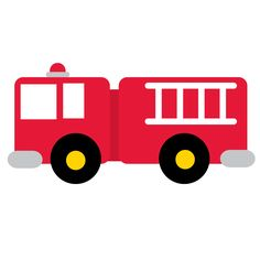 236x236 Cartoon Clip Art Firetruck Emergency Vehicle Truck Standing Photo