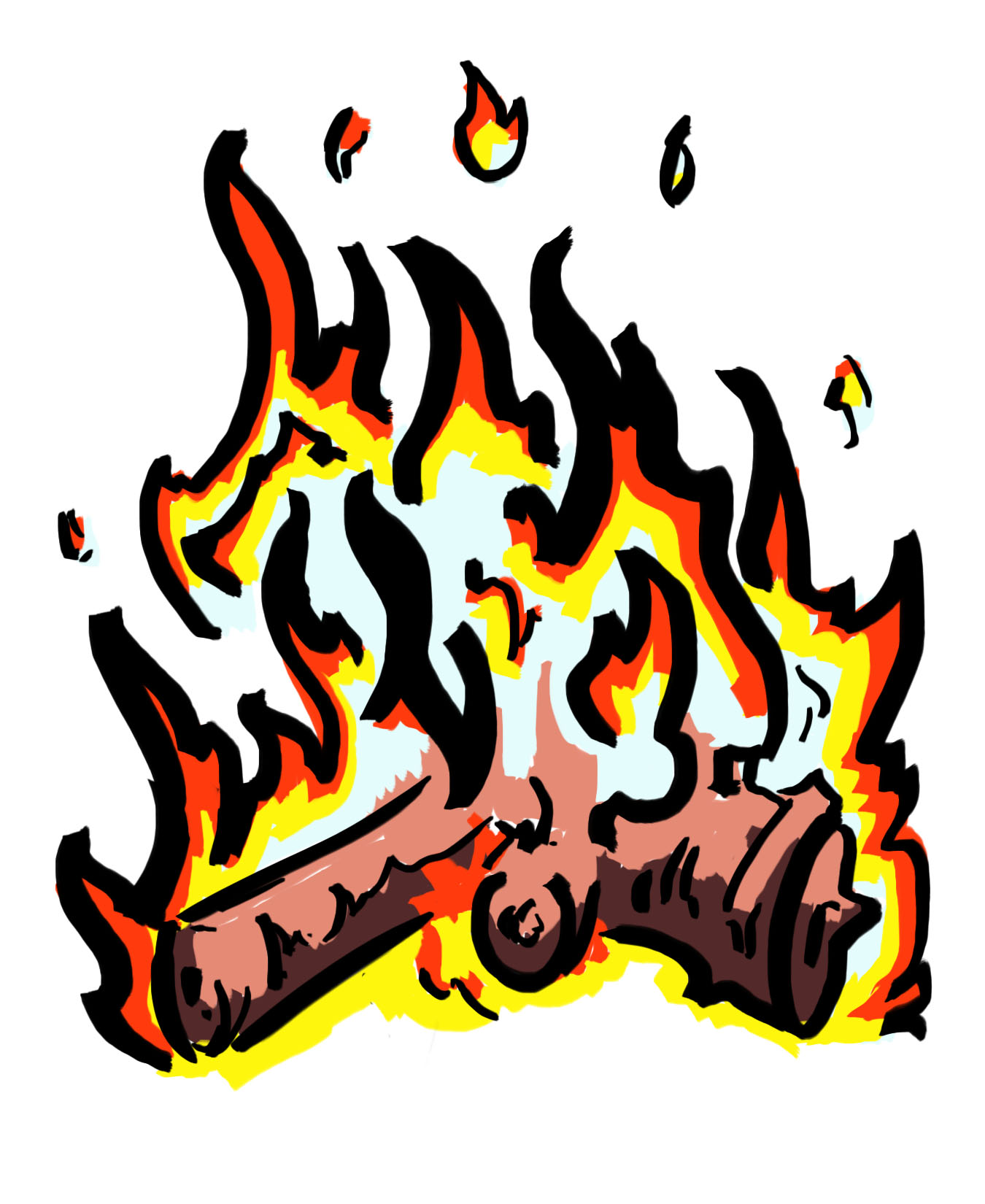 1350x1650 Burn Clipart Fire Emergency