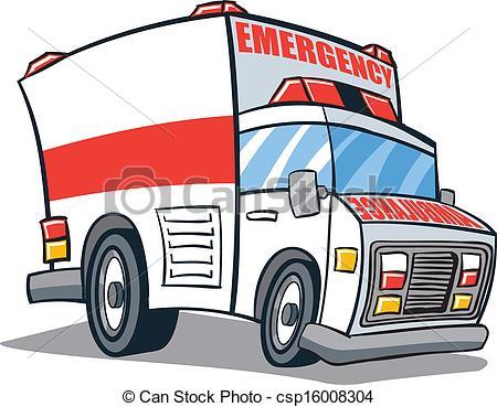 450x369 Cartoon Illustrated Ambulance Emergency Vehicle Vector Clipart