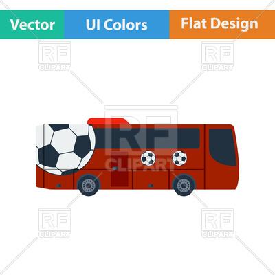 400x400 Football Fan Bus Royalty Free Vector Clip Art Image