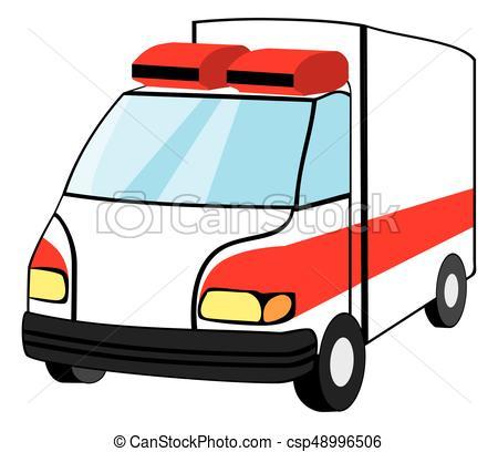 450x408 Ambulance Emergency Vehicle Cartoon Style Vector Clipart