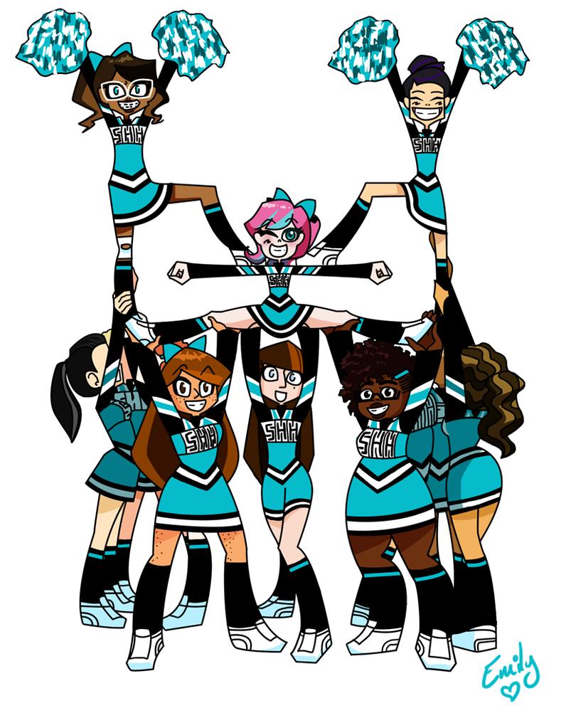 803x995 Cheerleaders By Emily Ree