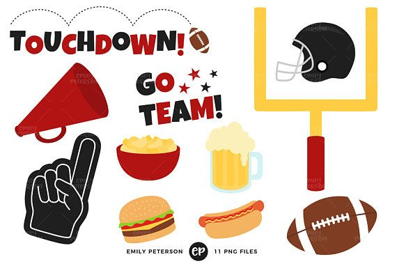 570x379 Football Clip Art, Sports Clipart, Party Clip Art