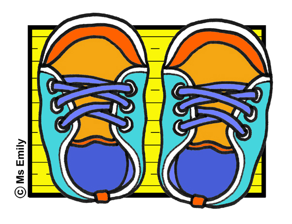 602x462 Shoes In Color Free Clip Art