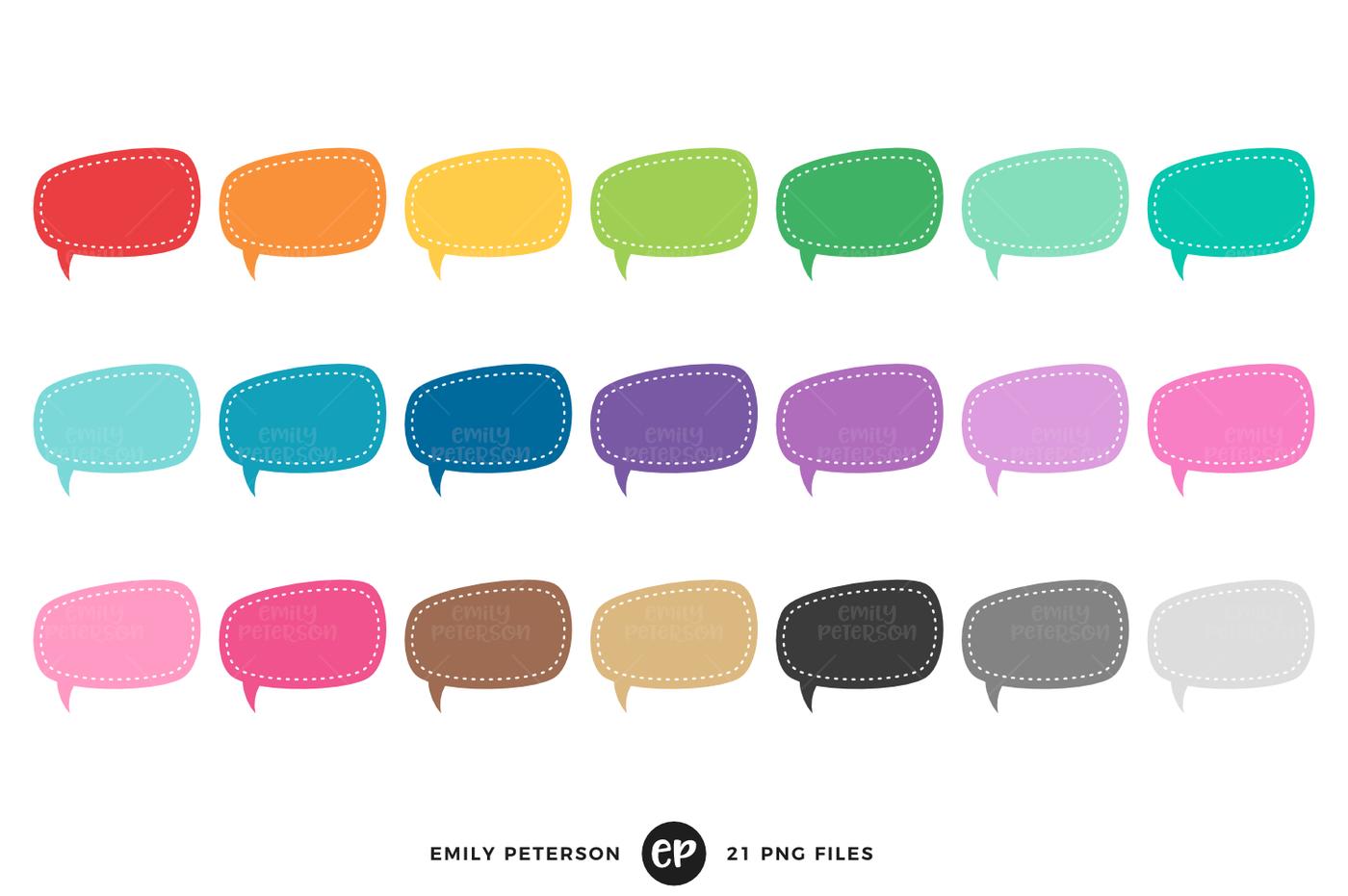 1400x931 Speech Bubble Clipart By Emily Peterson Studio