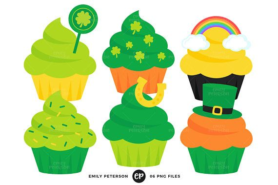 570x379 St Patrick's Day Clip Art, Cupcakes Clipart, Holiday Cupcakes Clip
