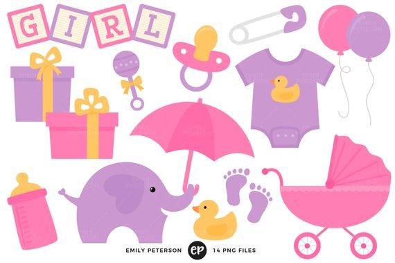 570x379 Baby Shower Clip Art, Baby Girl Clipart, Nursery Clip Art