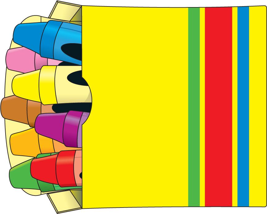863x694 Crayons Clip Art