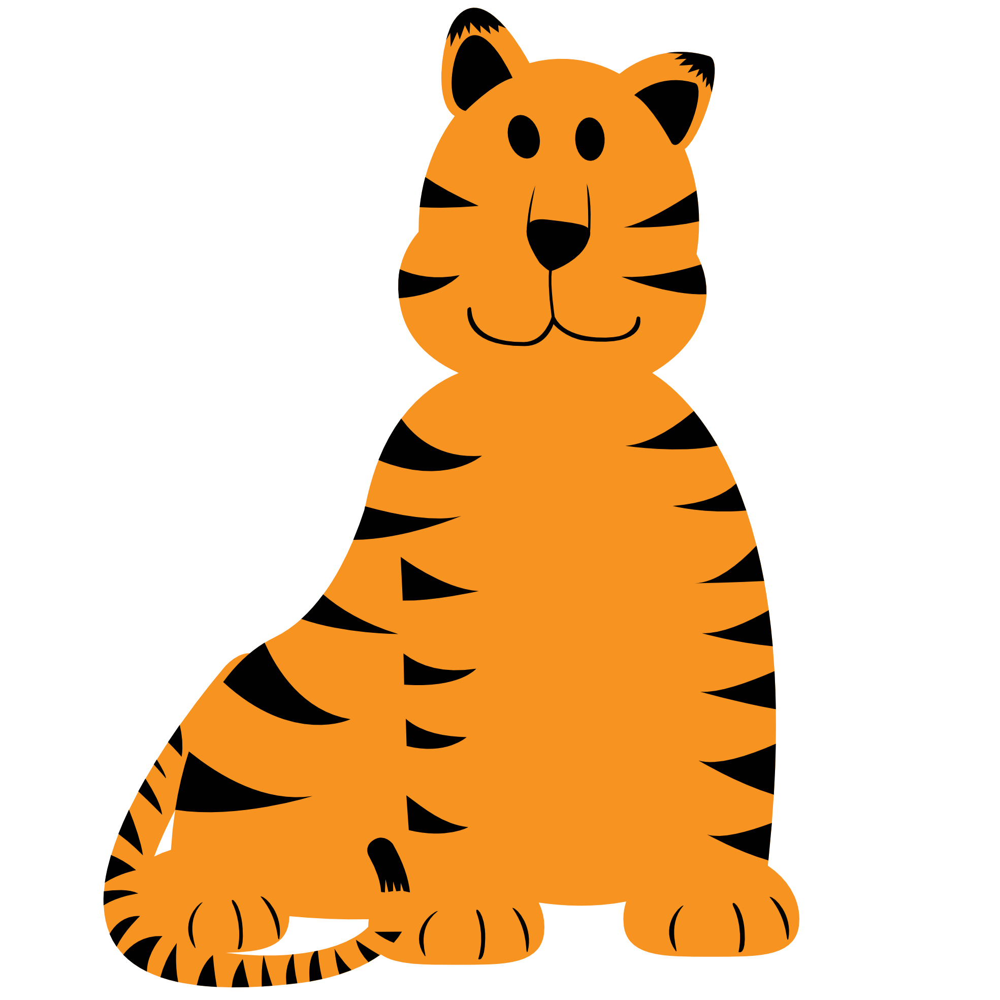 1969x1969 Tiger Cute Baby Clipart