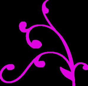 298x291 Decorative Corner Purple Clip Art
