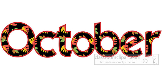 550x232 61 Free October Clipart