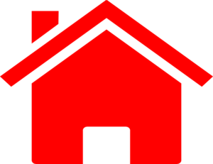 300x231 Small House Red Clip Art
